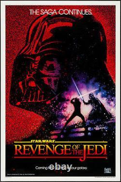 Star Wars Revenge of the Jedi 1982 Original Poster 27x41 Very Fine/Near Mint