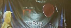 Stephen King IT 2017 Original 5X12' Vinyl US Movie Theater Banner Bill Skarsgård