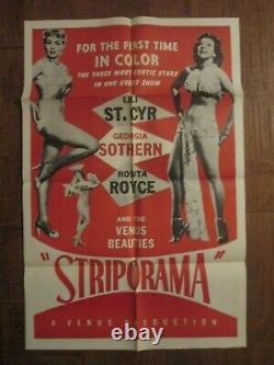 Striporama 1953 Original 1sheet Movie Poster Lili St Cyr