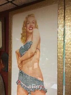 Super Rare Vintage 1947-53 Marilyn Monroe Life Size Poster Original Blonde
