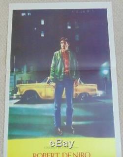 TAXI DRIVER ORIGINAL 1976 CINEMA DAYBILL MOVIE FILM POSTER Robert DeNiro 13 X 30