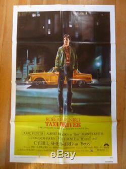 TAXI DRIVER Original 1976 Movie Poster, 27 x 41 One-Sheet Robert De Niro