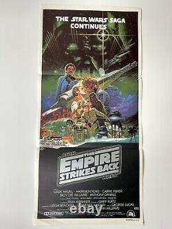 THE EMPIRE STRIKES BACK Original Australian Daybill 1980 Star Wars Poster