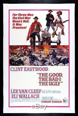 THE GOOD THE BAD AND THE UGLY Clint Eastwood VINTAGE MOVIE POSTER 1966 WESTERN