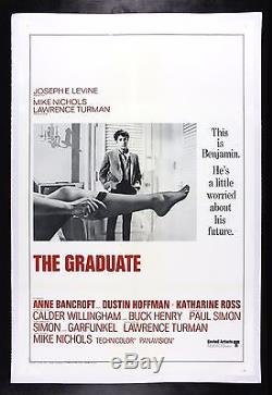 THE GRADUATE CineMasterpieces ORIGINAL VINTAGE MOVIE POSTER 1967 RARE STYLE