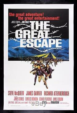 THE GREAT ESCAPE CineMasterpieces 1963 ORIGINAL MOVIE POSTER STEVE MCQUEEN