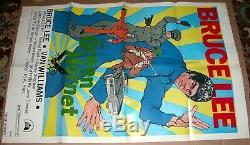 THE GREEN HORNET Bruce Lee 1974 one sheet movie poster original 27x41