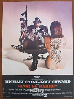 THE ITALIAN JOB (1969) Rare Original French Movie Poster Michael Caine