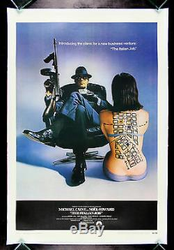 THE ITALIAN JOB CineMasterpieces MACHINE GUN ORIGINAL MOVIE POSTER 1969