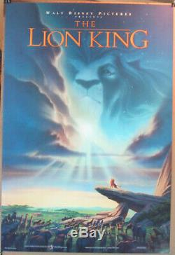 THE LION KING MOVIE POSTER Original DS 27x40 N. MINT! DISNEY Animation 1994