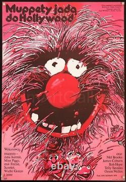 THE MUPPET MOVIE 1979 Amazing 26x38 Animal style Polish poster Film/ArtGallery