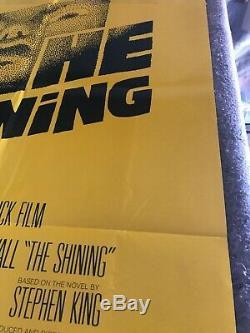 THE SHINING 1980 ORIG 1 SHEET MOVIE POSTER 27x41 (VF-) KING/KUBRICK/NICHOLSON