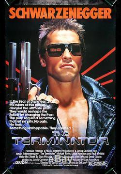 THE TERMINATOR CineMasterpieces ORIGINAL MOVIE POSTER ROLLED NM-M 1984