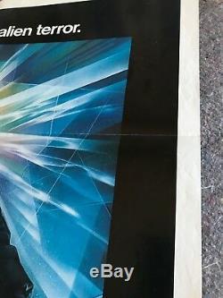 THE THING 1982 ORIGINAL 1 SHEET MOVIE POSTER 27x41 (F/VF) KURT RUSSELL SCI-FI