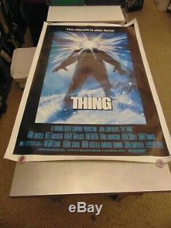 THE THING John Carpenter Kurt Russell Original 27x40 1-Sheet Movie Poster N6176