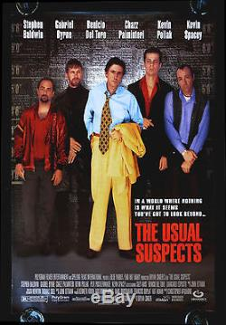 THE USUAL SUSPECTS CineMasterpieces ORIGINAL MOVIE POSTER RARE WATCH VERSION
