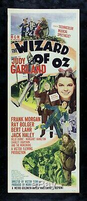 THE WIZARD OF OZ CineMasterpieces RARE INSERT MOVIE POSTER JUDY GARLAND 1949R