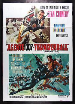 THUNDERBALL CineMasterpieces ORIGINAL JAMES BOND 007 ITALIAN MOVIE POSTER 1980