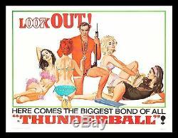 THUNDERBALL CineMasterpieces SUBWAY ORIGINAL JAMES BOND MOVIE POSTER 1965