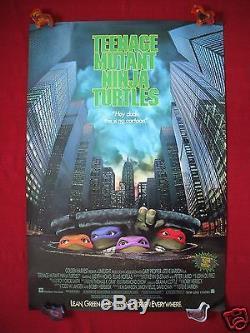 Teenage Mutant Ninja Turtles 1990 Original Movie Poster 1sh Tmnt Halloween Nm-m