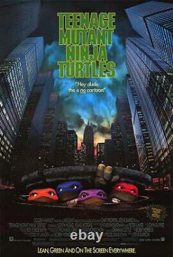 Teenage Mutant Ninja Turtles (1990) original movie poster ss mint rolled