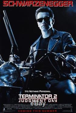 Terminator 2 Judgment Day (1991) Original Movie Poster Rolled Double-sided
