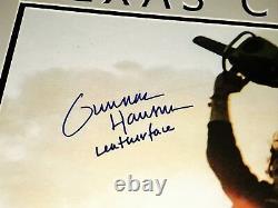 Texas Chainsaw Massacre Gunnar Hansen Signed Framed Leatherface Poster Photo Coa
