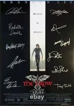 The Crow Cast Signed Movie Poster
