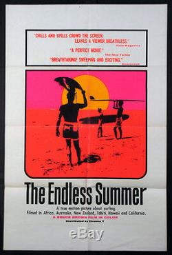 The Endless Summer Bruce Brown Surfing Classic Hamersveld Art 1966 Dayglo 1-sht