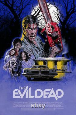The Evil Dead Screen Printed Movie Poster Art by Paul Mann #/100 NOT Mondo