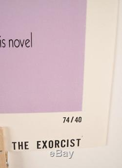 The Exorcist Original One Sheet Movie Poster, 1974