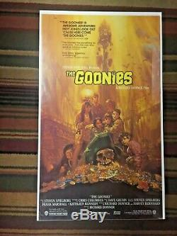 The Goonies ORIGINAL Theater Promo Poster from 1985 34 1/2 x 20 Warner Bros