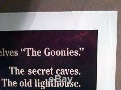 The Goonies vintage original 1-Sheet theatrical Poster 1985 Folded Very Good+