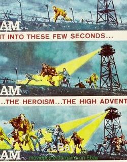The Great Escape Movie Poster Original Insert Size 14x36 Inch Steve Mcqueen 1963