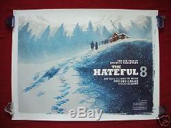 The Hateful 8 Eight 2015 Original British Quad Movie Poster D/s Tarantino Rare