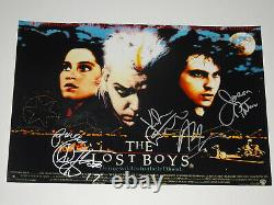 The Lost Boys Cast Signed Autographed X4 12x18 Photo Poster Sutherland Patric +