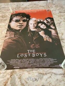 The Lost Boys Original Movie Poster 1987 Keifer Sutherland 27 X 40 Vampires