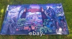 The Lost World Jurassic Park Worker Village Mural Banner