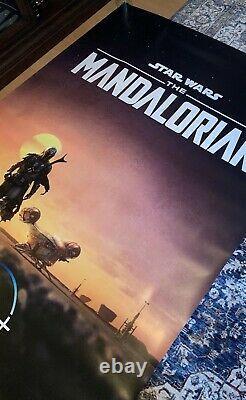 The Mandalorian S1 Original Bus Shelter 4x6 Poster RARE Star Wars Pedro Pascal