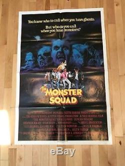 The Monster Squad 1987 Original 27x41 Movie Poster Andre Gower Robby Kiger