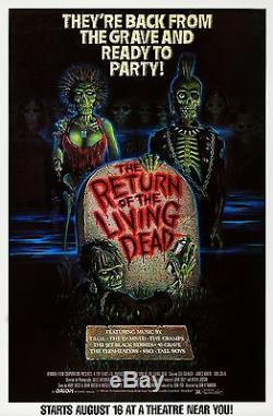The Return Of The Living Dead (1985) Original Movie Poster Rolled
