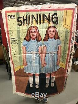 The Shining Ghana Mobil Cinema Horror Movie Poster Hand Painted Painting Art