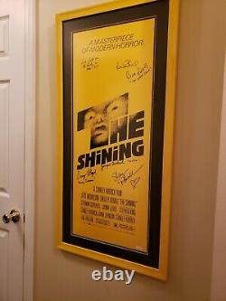 The Shining Original Panel Movie 14x36 Poster Auto'd Signed by 6 with JSA LOA