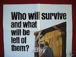 The Texas Chainsaw Massacre 1974 Original Movie Poster 1sh Halloween Bryanston