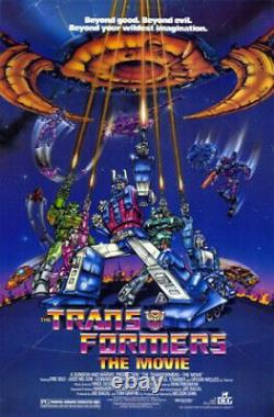 The Transformers (1986) Movie Poster, Original, SS, Unused, NM, Rolled