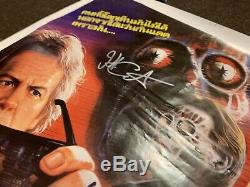 They Live Original Thai Poster 31x21 Cast Signed Autograph John Carpenter Piper