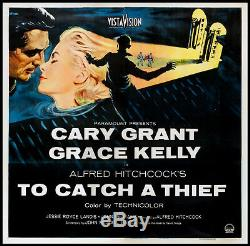 To Catch A Thief Cary Grant Grace Kelly Hitchcock 1955 Six-sheet Billboard