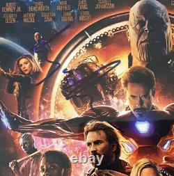 Tom Holland Elizabeth Olsen Signed 11x17 Avengers Infinity Wars Movie Poster PSA