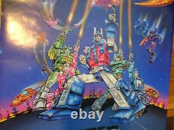 Transformers 1986 The Movie Poster Rare Vintage Original Employee Owned G1