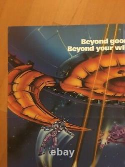 Transformers The Movie Original One Sheet Movie Poster 1986 Excellent Condition